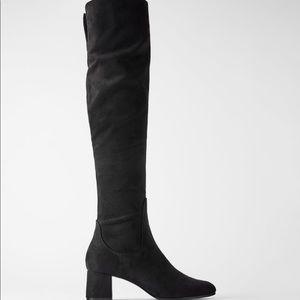 zara high block heeled over-the-knee boots